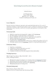 Sample Advertising Account Executive Cover Letter Advertising Account Executive Resume Dew Drops