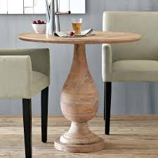 round wood bistro table three reclaimed wood round bistro table