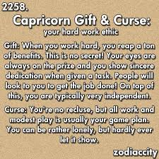 capricorn gift and curse