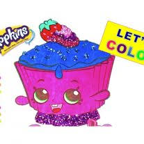 Coloring Page Shopkins Cupcake Chic Coloring Page Happy Places