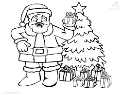 Kleurplaat Kerst Kerstman Lieve Kerstman