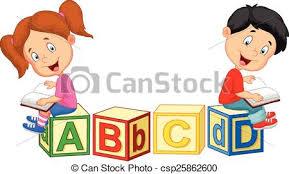 children cartoon reading book and s csp25862600