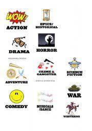 Film Genres English Worksheet Film Genres Teaching Genre Film Genres