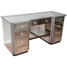 superb mirrored dressing table or vanity with nine drawers for