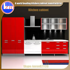 Kitchen Cabinet Door Manufacturers High Gloss Red Kitchen Cabinet With Acrylic Cabinet Door Buy