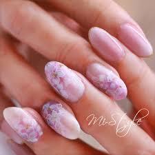 Mieko Hiramatsuさんのネイルデザイン ベイビーブーマー紫陽花紫