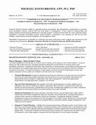 Security Guard Resume Sample Best Of Executive Protection Resume