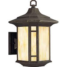 arts crafts lighting outdoor. progress lighting arts and crafts collection 1-light outdoor weathered bronze wall lantern r