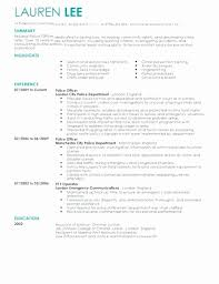 Police Officer Resume Gorgeous Entry Level Police Officer Resume Clever Police Officer Resume