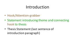 writing the literary analysis essay ppt video online  introduction hook attention grabber