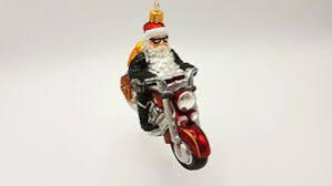 Details Zu Hanco Design Christbaumschmuck Weihnachtsmann Auf Motorrad 164801