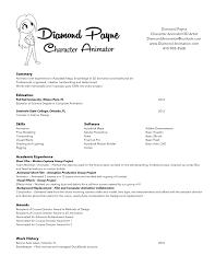 Animator Resume Animator Resume Resume For Study 34