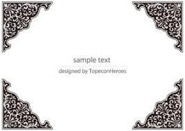 お洒落な四角形長方形飾り枠フレームのテンプレート素材画像集