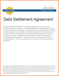debt agreement sle and settlement letter template 28 gallery clip art meme