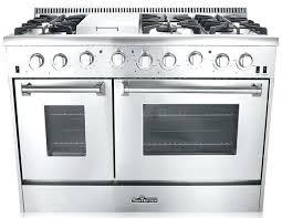40 Inch Electric Range Kitchen Dual Fuel Range 6 Burner With Griddle
