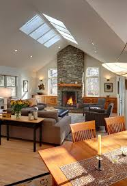 Vaulted Living Room Decorating 17 Best Ideas About Fireplace Between Windows On Pinterest Stone
