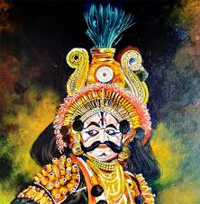 today i am posting my another painting of yakana which is one of the most popular folk forms of karnataka state in india
