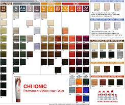 Ion Color Chart Chi Ionic Color Swatch Book Coloring Pages