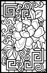 Small Picture Chinese Flower I wanna color it heART Pinterest Chinese