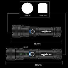 Đèn pin HAIXNFIRE H002 bóng LED XHP50 dùng pin 26650 xoay để phóng to dùng  khi đi săn tiện lợi giảm chỉ còn 178,000 đ