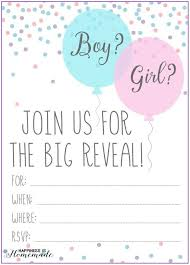 Gender Reveal Invitation Templates Gender Reveal Printable Templates Template Resume
