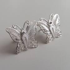 sterling silver erfly earrings 60 best silver filigree earrings images on