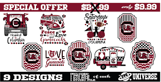 Gamecock Embroidery Design Collection Pin By Svg Universe On South Carolina Gamecocks South
