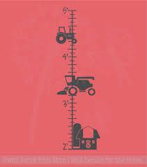 Farm Growth Chart Farm Tractor Height Growth Chart Ruler Wall Decal Sticker For Boys