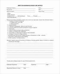 Employee Warning Letter Template Luxury Employee Written Warning