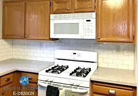 honey oak kitchen cabinets leave or paint white mocked up photo