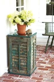 charming diy home decor projects shutter side table diy home decor crafts blog