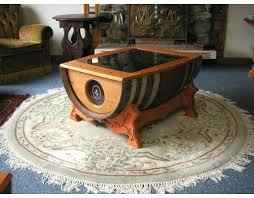 wine barrel coffee table with a glass top half ideas
