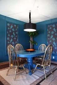 eclectic dining room the upward bound house by elizabeth erger blue table