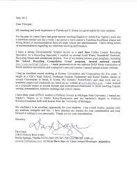 Sample Resume Cover Letter For Special Education Teacher