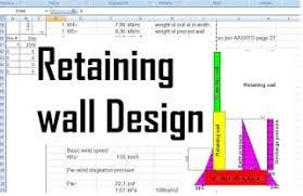 Small Picture Design of Retaining walls against overturning and sliding forces
