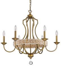 ava modern raw brass crystal chandelier 30 wx28 h
