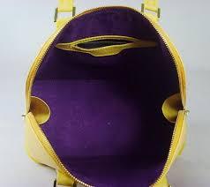 vogue lemon yellow louis vuitton epi leather tote bags zipper closure good designer