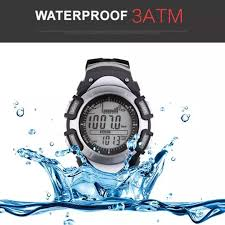 Elec Sunroad Multifunction Fishing Watch Weather Forecast Barometer Altimeter Thermometer Waterproof Outdoor Sport Watch