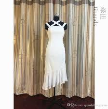 2017 Ghands Chiffon Spaghetti Trumpet Mermaid Asymmetrical Elegant Plus Size Wedding Guest Formal Gowns Bridesmaid Dresses Custom Size Color