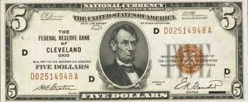 Old Five Dollar Bills Values And Pricing Sell Old Currency