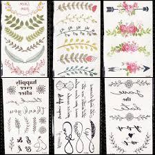 красочные листья временные татуировки наклейки цветок женщины декор