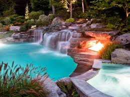 Swimming Pool:Luxury Swimming Pool With Natural Waterfall Awesome Luxury  Swimming Pool Designs Ideas