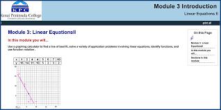 beginning algebra module 3 linear equations ii