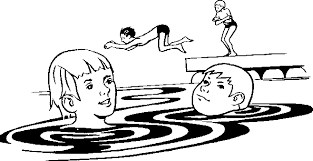 kid swimming clipart black and white. Delighful Clipart In Kid Swimming Clipart Black And White 0
