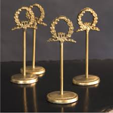 table card holders. laurel wreath table number or place card holders d