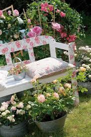 garden decorations ideas. Garden-decorating-ideas-diy-decoupage-technique-garden-bench Garden Decorations Ideas A