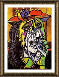 framed poster weeping woman pablo picasso framed posters framed wall decor