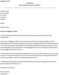 Cover Letter Samples For Airport Jobs Baggage Handler Example
