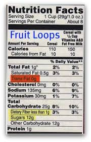 kellogg s fruit loops nutrition facts label