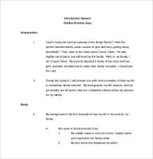 Template For A Speech Free 9 Speech Outline Templates In Pdf Word
